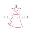 elegant woman dress logo fashion shop symbol vector image vector image