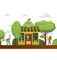 farm fresh shop character male buy vegetables vector image vector image