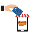 fast food commerce vector image