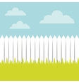 fence and grass landscape vector image