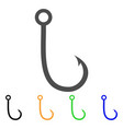 fishing hook flat icon vector image vector image