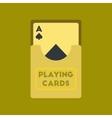 flat icon on stylish background playing cards vector image