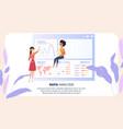 global data analysis grath businesswoman character vector image vector image