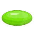 Green pill icon cartoon style vector image vector image