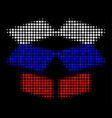 halftone russian open box icon vector image vector image