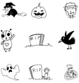 Halloween on whiite backgrounds in doodle vector image vector image