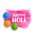 happy holi colors background with gulal powder vector image vector image