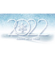 happy new year 2022 and christmas background blue vector image