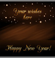 happy new year background with magic gold rain vector image vector image