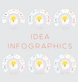 head lightbulb brain conceptual idea infographics vector image