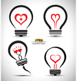 Heart collection vector image vector image