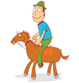 horse rider vector image vector image