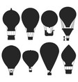hot air balloons silhouettes isolated vector image