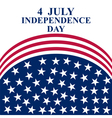 July 4 US Independence Day vector image