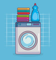 laundry service set icons vector image vector image