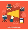 Movie production Flat design vector image vector image