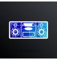 Music center icon art audio vector image vector image