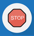 of procuring symbol on stop vector image vector image