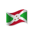 official flag of the republic of burundi vector image