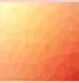orange polygonal background rumpled triangular vector image