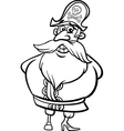 pirate captain cartoon coloring page vector image vector image