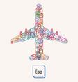 Plane of postmarks vector image