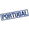 Portugal blue square stamp vector image vector image