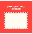 postage stamp template on red background vector image