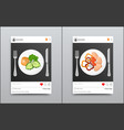 posts collection on instagram vector image