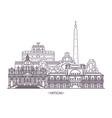 religion landmarks vatican city vector image vector image