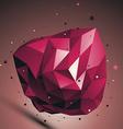 Ruby digital 3d abstraction lattice geometric vector image