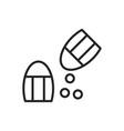 salt icon vector image vector image