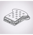 sandwich cheese icon vector image