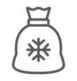 santa bag line icon christmas and holiday vector image vector image