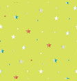seamless pattern with stars on light green backgro vector image vector image