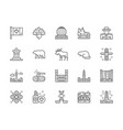 set canadian culture line icons sports vector image vector image