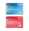 set credit card vector image