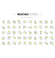 set line icons weather vector image