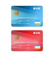 Set of credit card vector image vector image