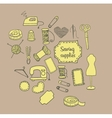 sewing accessories Doodle vector image vector image