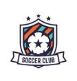 soccer or football club logo or badge vector image vector image