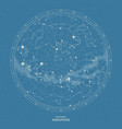southern hemisphere star map vector image vector image
