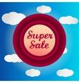 Super sale circle label vector image