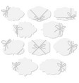tags and labels with bakers twine bows ribbons vector image vector image