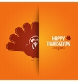 Thanksgiving turkey greeting card background vector image vector image