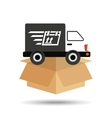transportation delivery service box warehouse vector image vector image