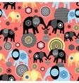 Valentine pattern of elephants vector image