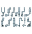 ventilation pipe cartoon set icon isolated vector image vector image