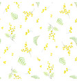 Watercolor mimosa pattern