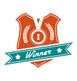 winner colorful badge design vector image vector image